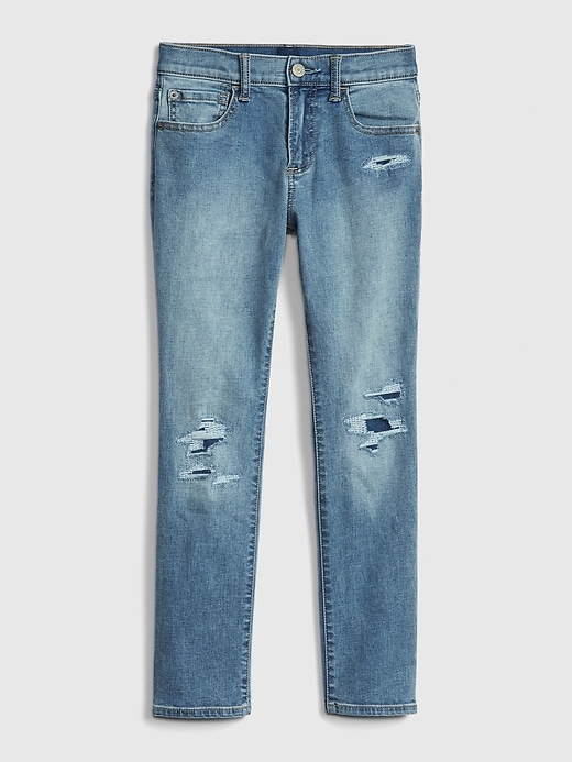 Kids Destructed Skinny Jeans with Stretch