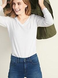 EveryWear Long-Sleeve V-Neck Tee for Women