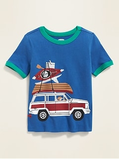 11d0cd778 Critter Wrap-Around Graphic Ringer Tee for Toddler Boys