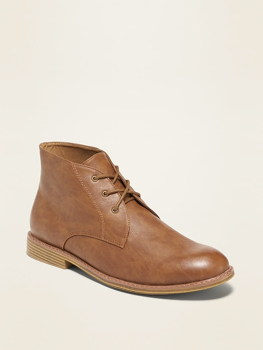 Faux-Leather Chukkas for Men