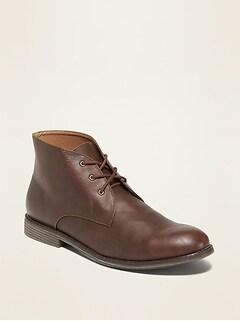 Oldnavy Faux-Leather Chukkas for Men