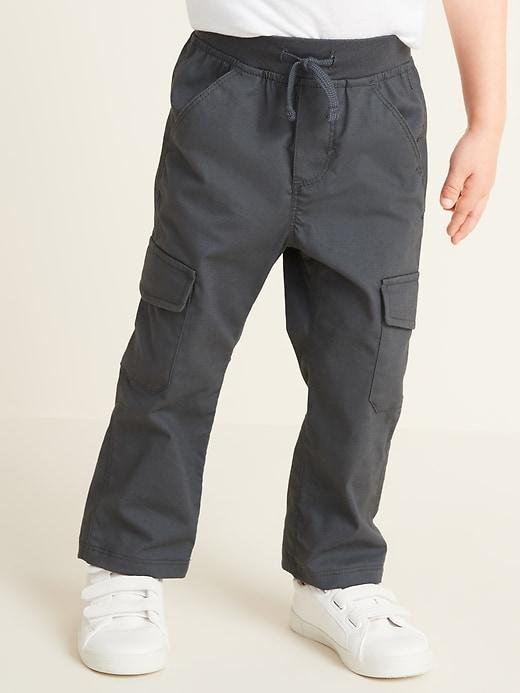 Rib-Knit Waist Built-In Flex Cargo Pants for Toddler Boys