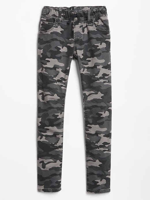 Kids Pull-On Camo Jeans in Slim Fit