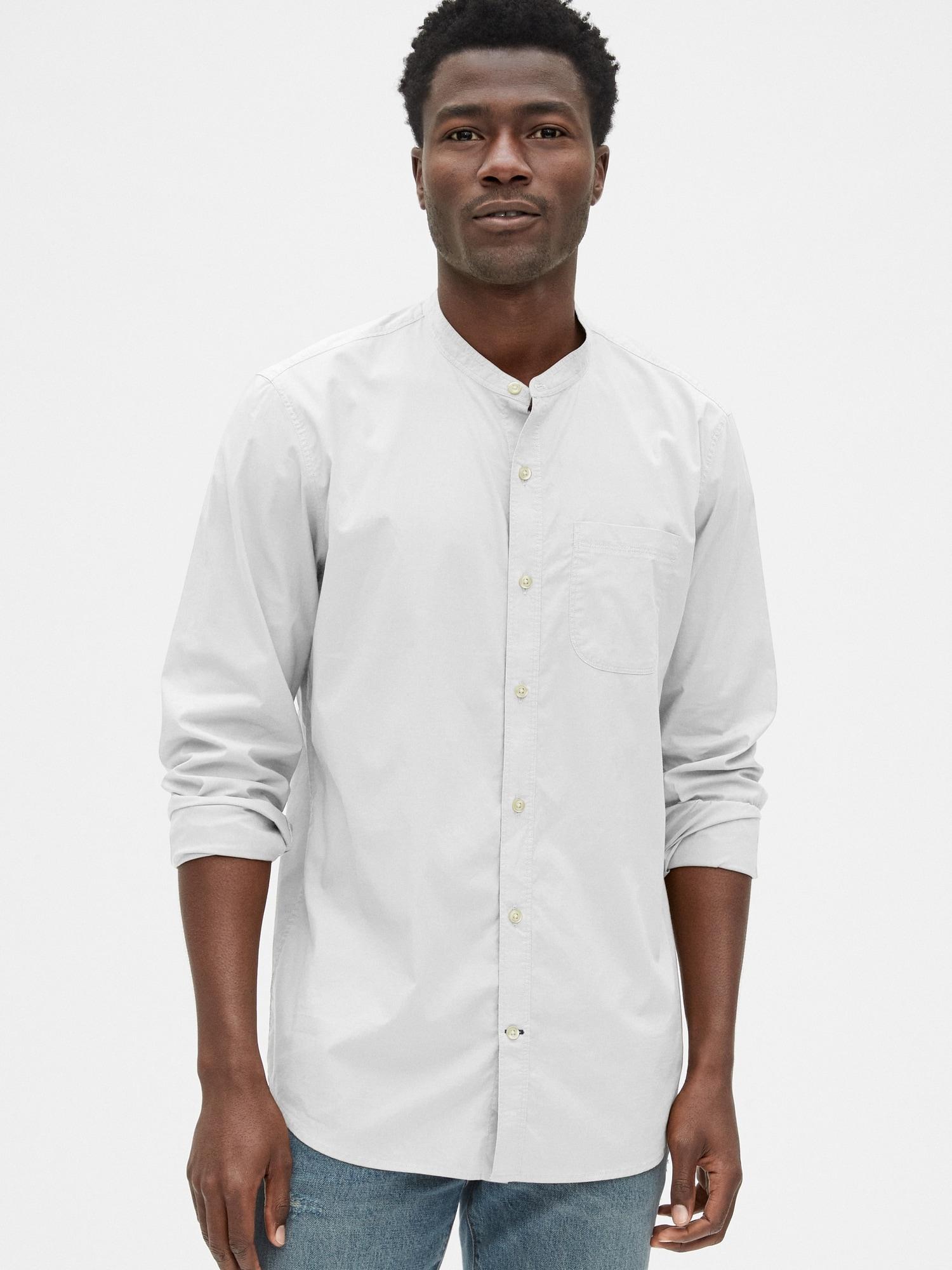 スタンドカラー シャツ