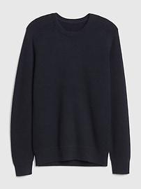 Waffle Stitch Crewneck Sweater