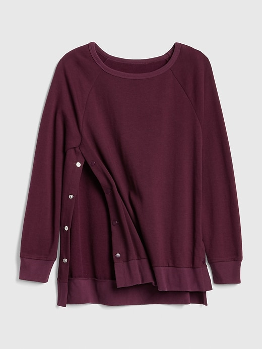 Maternity Side-Snap Nursing Sweatshirt
