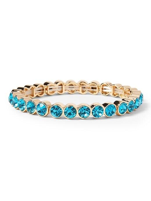 Bracelet extensible à pierres multiples