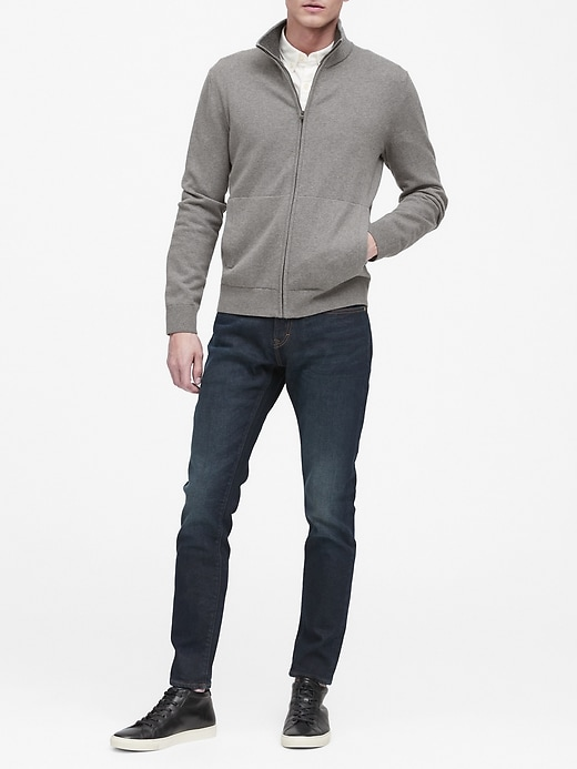 Cotton Cashmere Sweater Jacket