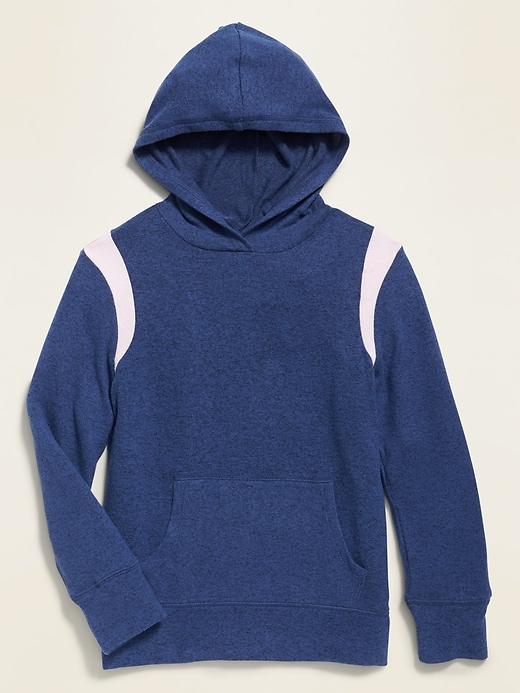 Plush-Knit Pullover Hoodie for Girls