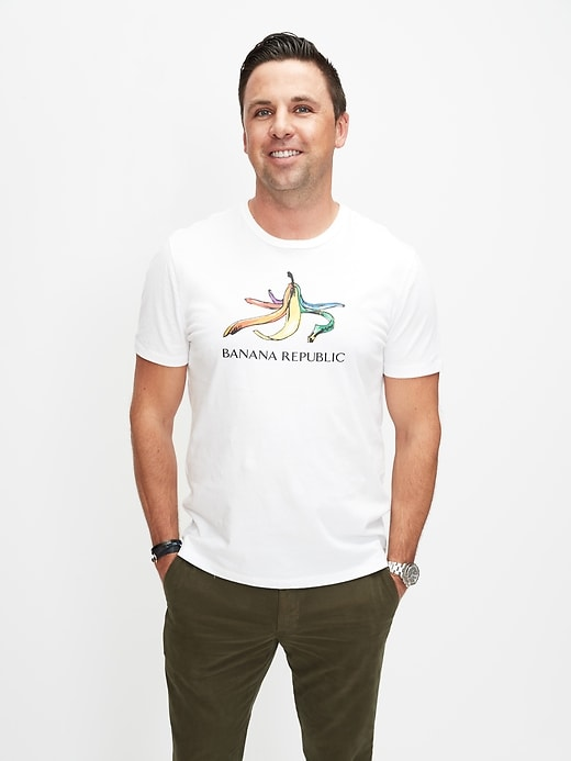 Pride 2020 Rainbow Banana T-Shirt (Men's Sizes)