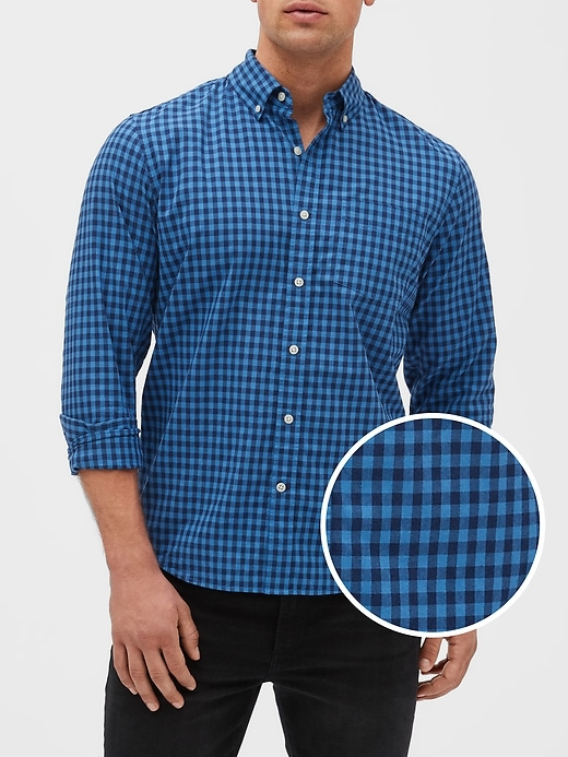 Poplin Long-Sleeve Shirt in Slim Fit