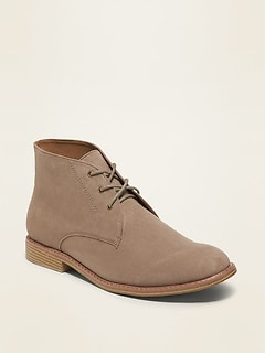 Oldnavy Faux-Suede Chukka Boots for Men