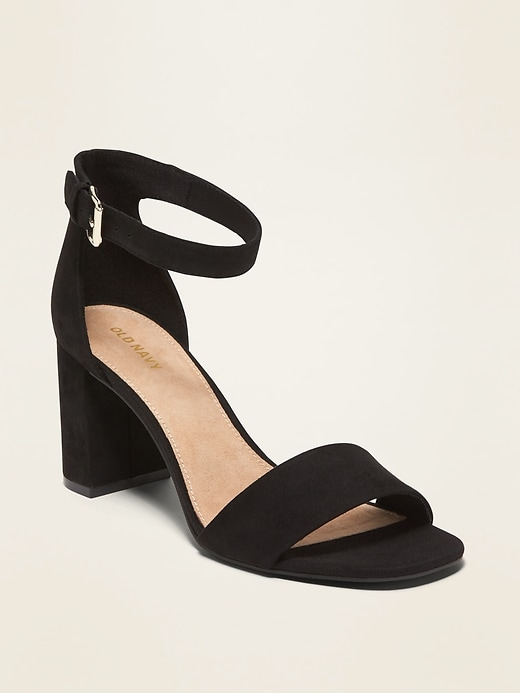 Faux-Suede High-Heel Sandals for Women