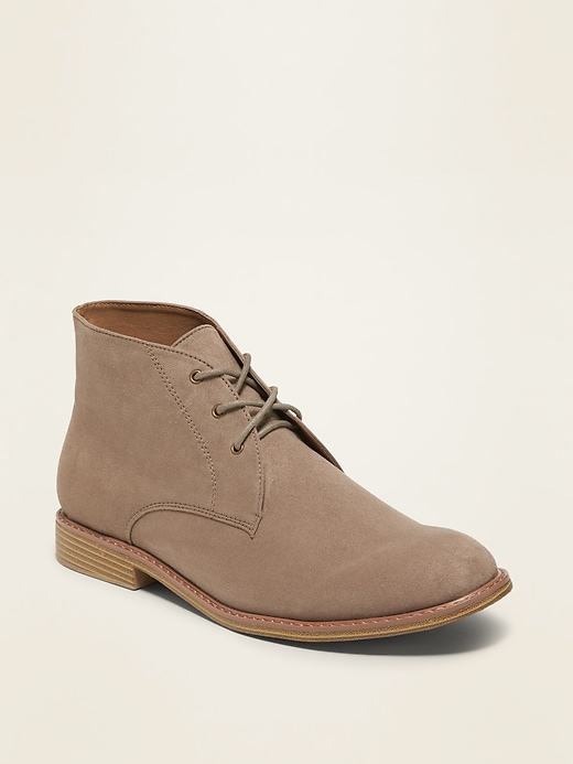 Faux-Suede Chukka Boots for Men