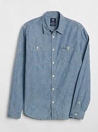 Chemise à coupe ouvrier1969 emblématique en cambrai