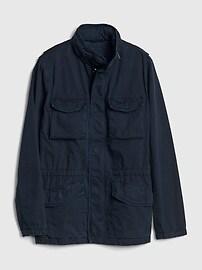 Military Jacket with Hidden Hood