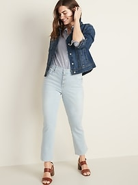 High-Waisted Button-Fly Flare Ankle Rockstar Jeans For Women