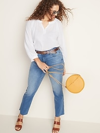 High-Waisted Flare Ankle Jeans For Women