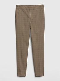 High Rise Plaid Slim Taper Pants