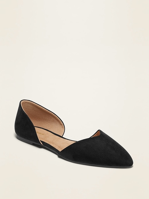 Pointy-Toe D'Orsay Flats for Women