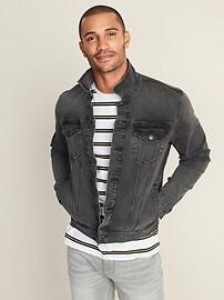 Built-In Tough Black Jean Jacket For Men