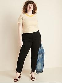 High-Waisted Secret-Slim Pockets + Waistband Power Slim Straight Plus-Size Jeans