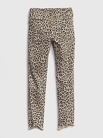 Kids Leopard Ankle Jeggings with Stretch