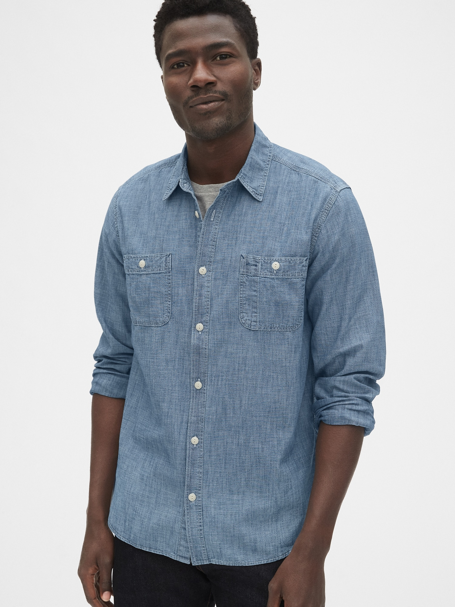 1969 Icon Chambray Worker Shirt