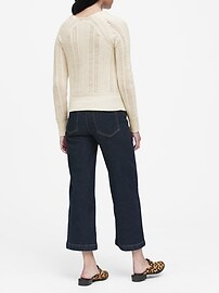 Cashmere Pointelle Sweater