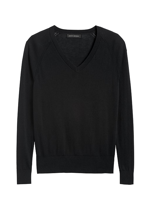 Silk Cotton V-Neck Sweater