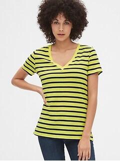 d072851beead Vintage Wash Stripe V-Neck T-Shirt
