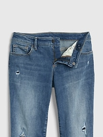 Kids Destructed Boot Jeans with Stretch