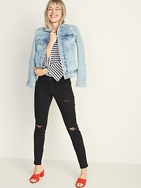 Mid-Rise Distressed Pop Icon Skinny Jeans for Women