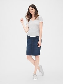 Maternity Full Panel Denim Skirt
