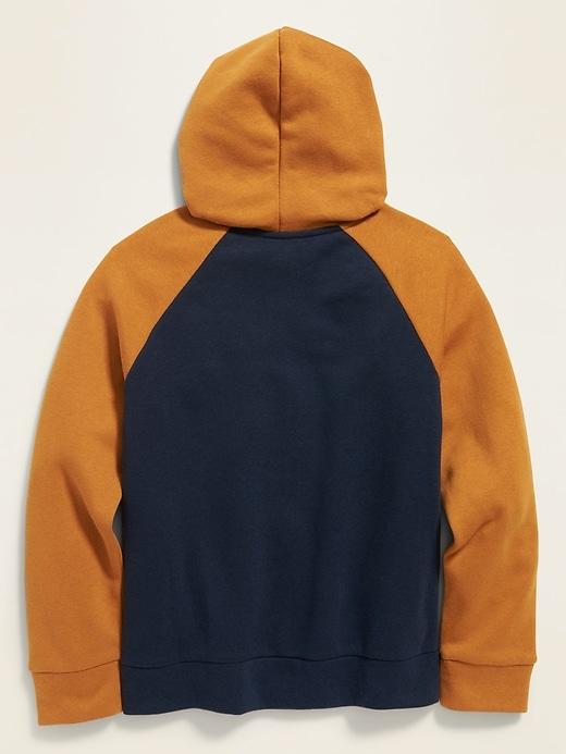 Color-Block Raglan Zip Hoodie for Boys