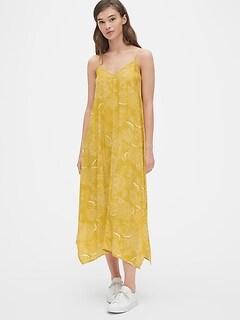 38f90c61f4212 Cami Floral Print Handkerchief Midi Dress