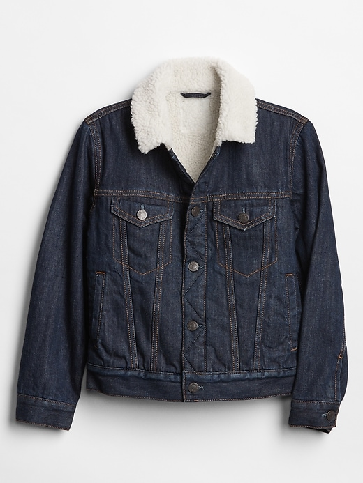 Kids Sherpa-Lined Denim Jacket