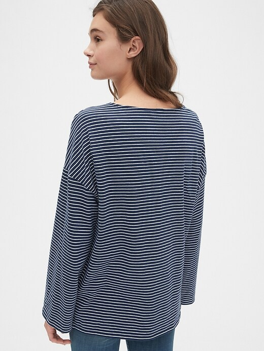 Relaxed Stripe Boatneck T-Shirt