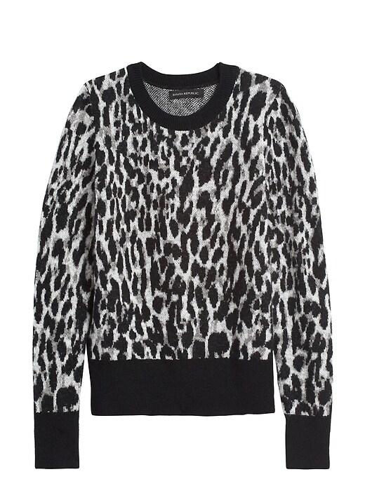 Petite Leopard Crew-Neck Sweater