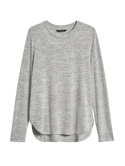 Petite Luxespun Curved Hem T-Shirt