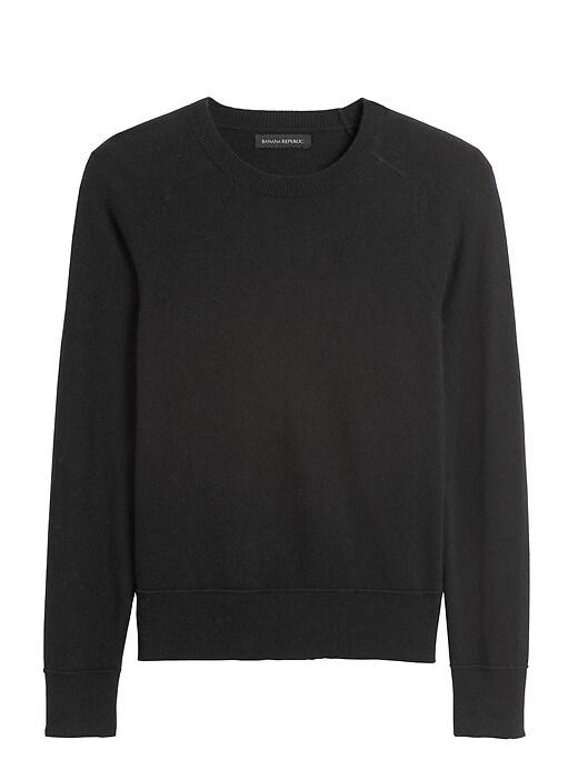 Italian Merino-Blend Crew-Neck Sweater