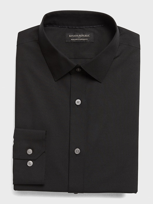 Standard Fit Non-Iron Black Shirt