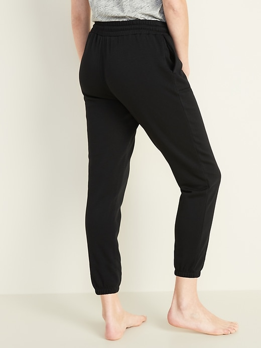 French Terry Cinched-Hem Joggers for Women