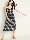 Deals on Old Navy Plaid Fit & Flare Cami Midi for Women