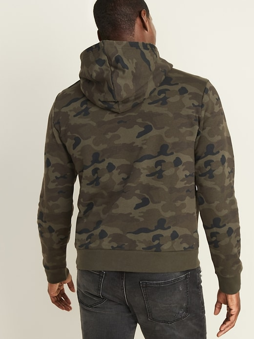 Classic Camo-Print Pullover Hoodie for Men