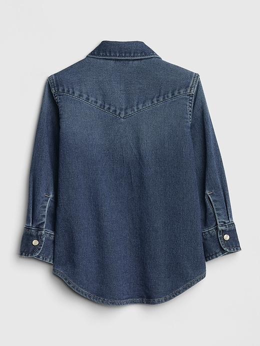 Toddler Long Sleeve Denim Shirt