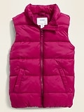 Frost-Free Quilted Puffer Vest for Girls ON