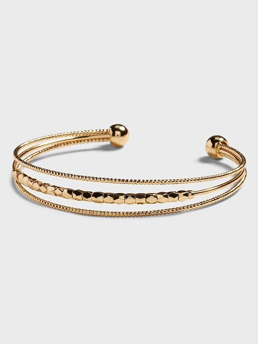 Beaded Wire Cuff Bracelet