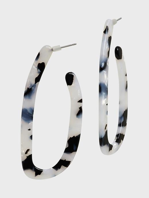 Long Resin Hoop Earrings