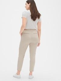 High Rise Slim Crop Pants
